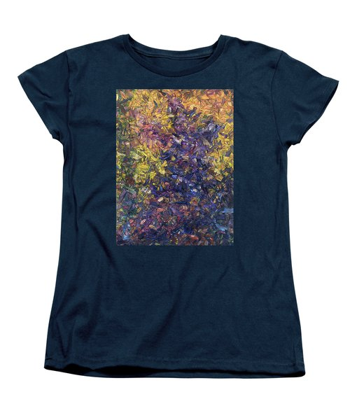 Women's T-Shirt (Standard Cut) featuring the painting Shadow Dance by James W Johnson