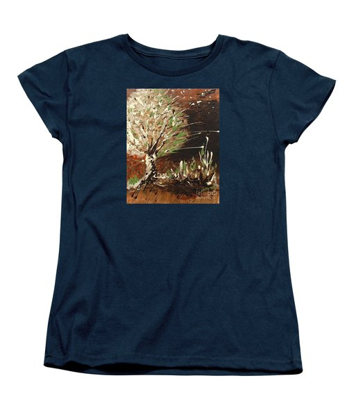 Women's T-Shirt (Standard Cut) featuring the painting Shadows by Holly Carmichael