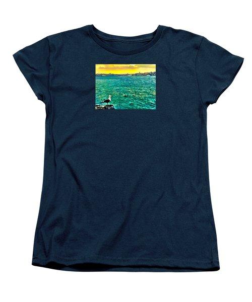 She Is Late Again  Women's T-Shirt (Standard Cut) by Zafer Gurel