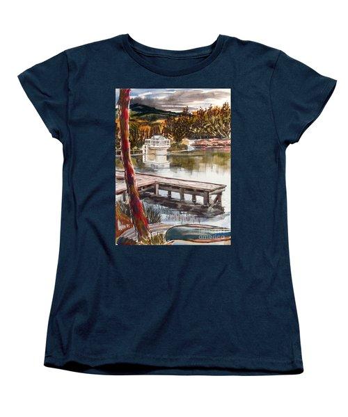 Shepherd Mountain Lake In Twilight Women's T-Shirt (Standard Cut) by Kip DeVore