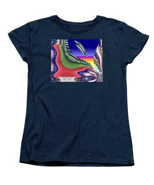 She's Leaving Home Abstract Women's T-Shirt (Standard Cut) by Alec Drake