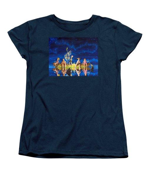 Women's T-Shirt (Standard Cut) featuring the painting Ship Of Fools by Matt Konar