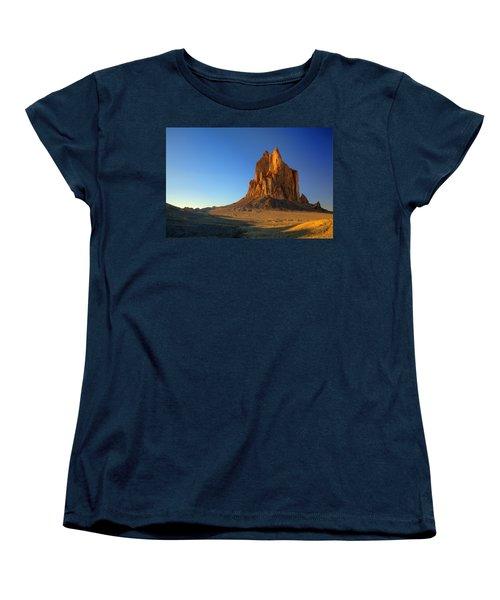Shiprock Sunset Women's T-Shirt (Standard Cut) by Alan Vance Ley