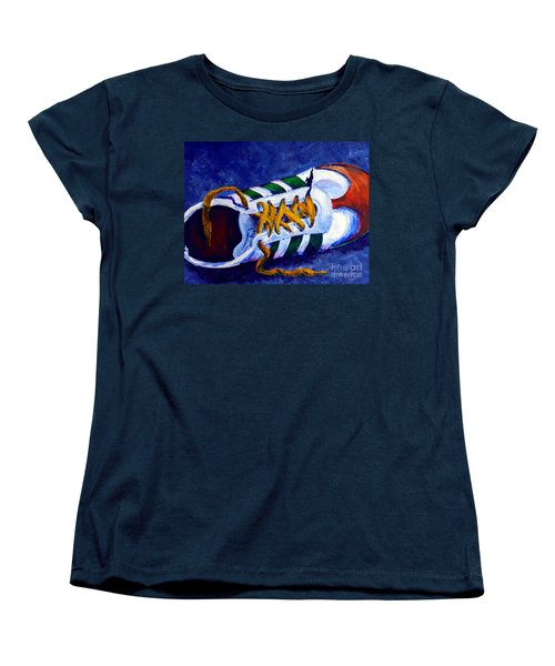 Women's T-Shirt (Standard Cut) featuring the painting Shoeless by Jackie Carpenter