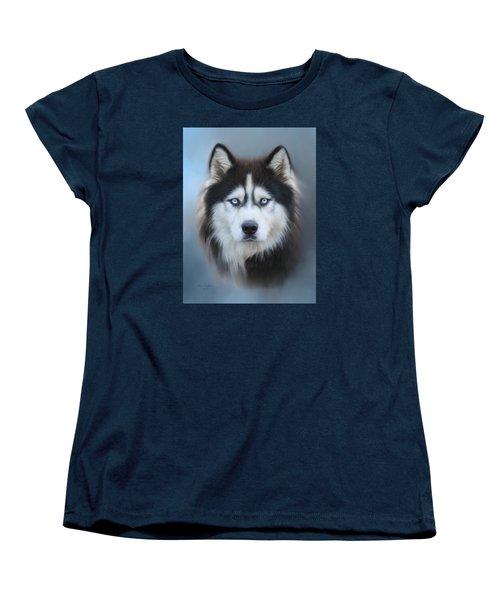 Siberian Husky Women's T-Shirt (Standard Cut) by Lena Auxier