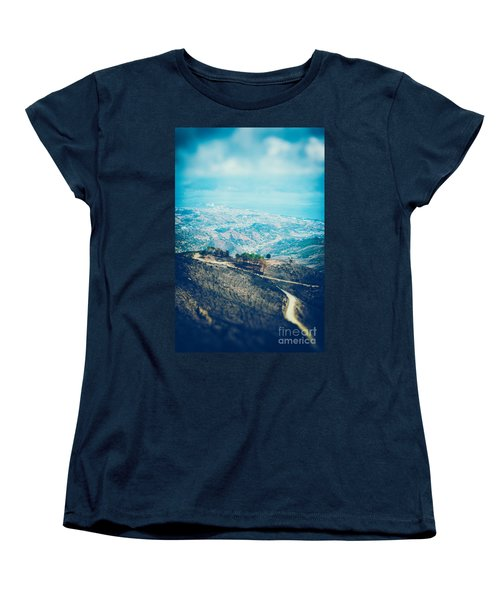 Women's T-Shirt (Standard Cut) featuring the photograph Sicilian Land After Fire by Silvia Ganora