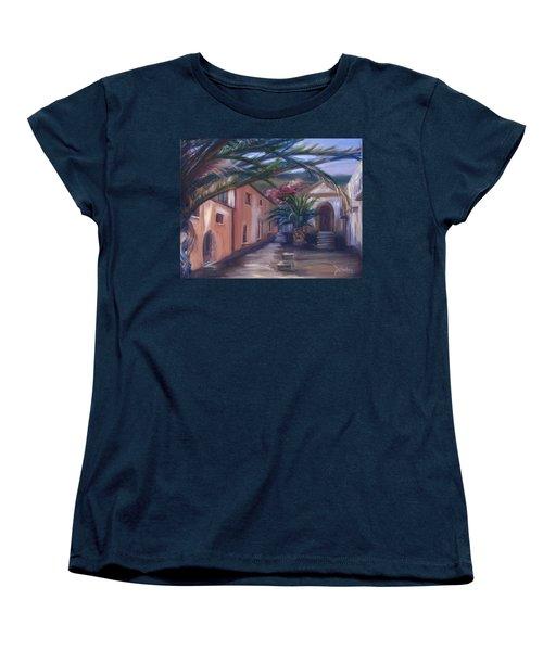 Women's T-Shirt (Standard Cut) featuring the painting Sicilian Nunnery II by Donna Tuten
