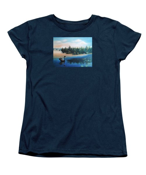 Women's T-Shirt (Standard Cut) featuring the painting Silence by Vesna Martinjak