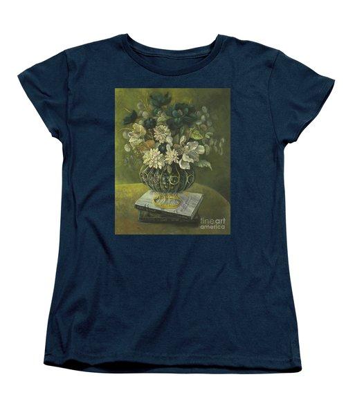 Silk Floral Arrangement Women's T-Shirt (Standard Cut) by Marlene Book