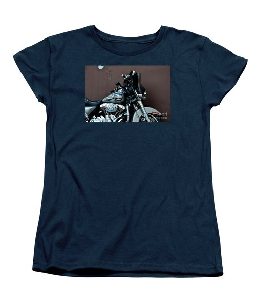 Women's T-Shirt (Standard Cut) featuring the photograph Silver Harley Motorcycle by Imran Ahmed