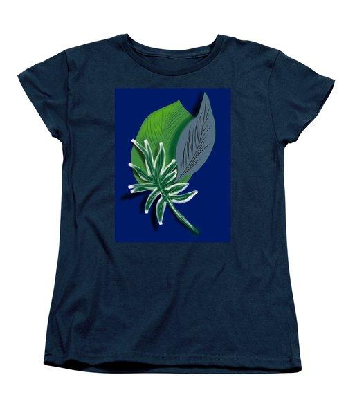 Women's T-Shirt (Standard Cut) featuring the digital art Silver Leaf And Fern II by Christine Fournier