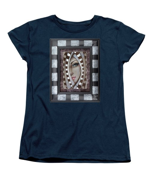 Women's T-Shirt (Standard Cut) featuring the painting Silver Memories 220414 Framed by Selena Boron