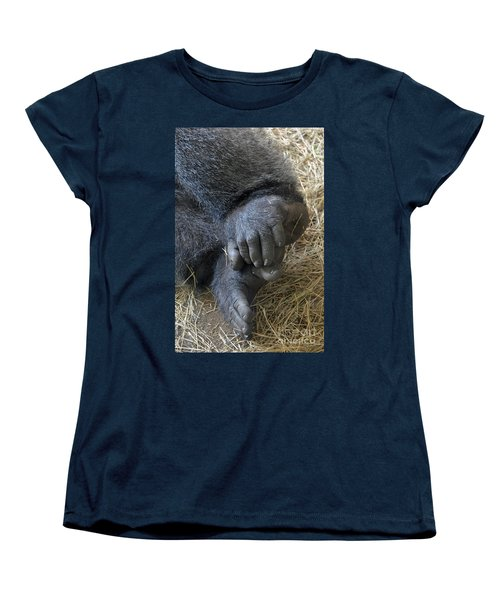 Women's T-Shirt (Standard Cut) featuring the photograph Silverback Toes by Robert Meanor