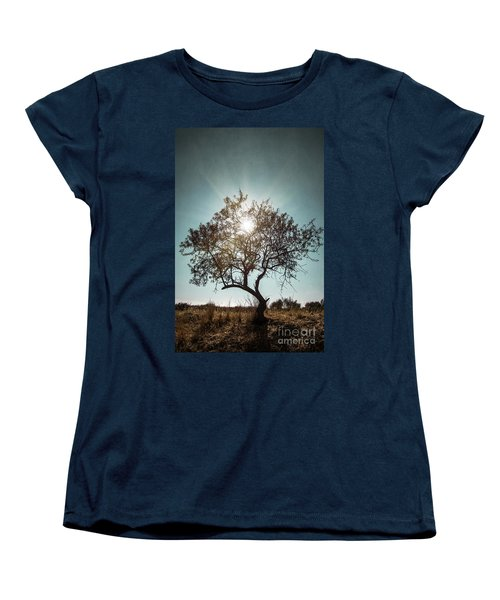 Single Tree Women's T-Shirt (Standard Cut) by Carlos Caetano