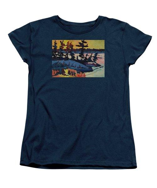 Singleton Sunset Women's T-Shirt (Standard Cut) by Phil Chadwick