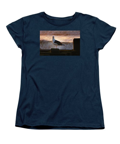 Sittin On The Dock Of The Bay Women's T-Shirt (Standard Cut) by David Dehner