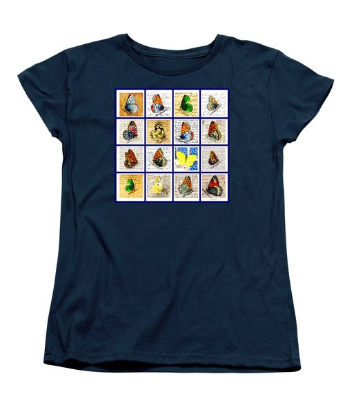 Sixteen Butterflies Women's T-Shirt (Standard Cut) by Marian Cates