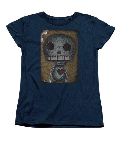 Skelly With A Heart Women's T-Shirt (Standard Cut) by Abril Andrade Griffith