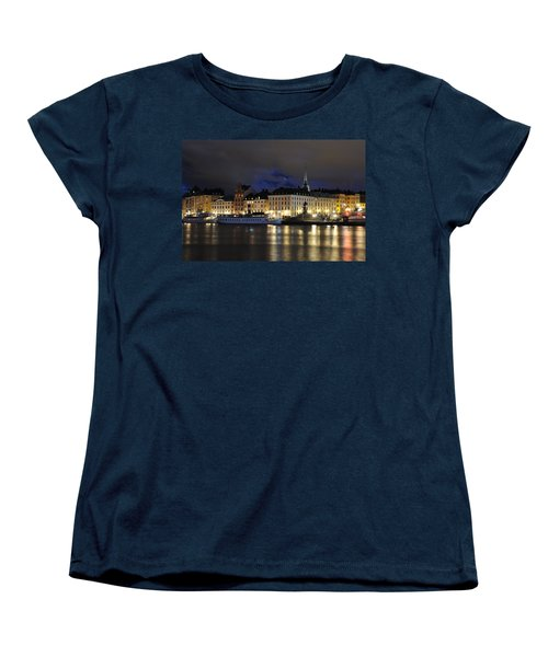 Skeppsbron At Night Women's T-Shirt (Standard Cut) by Jeremy Voisey