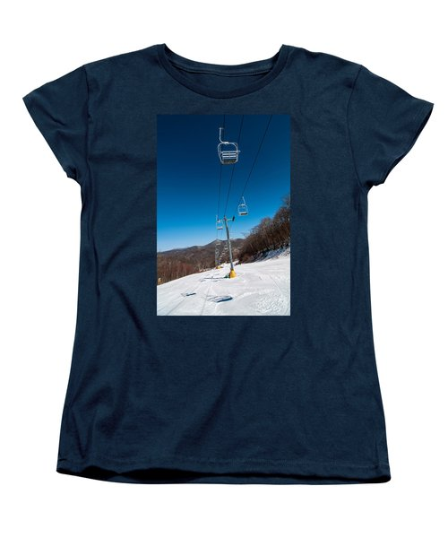 Ski Lift Women's T-Shirt (Standard Cut) by Alex Grichenko