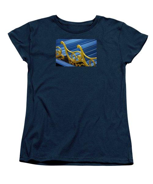 Women's T-Shirt (Standard Cut) featuring the photograph Skc 0246 The Garden Benches by Sunil Kapadia