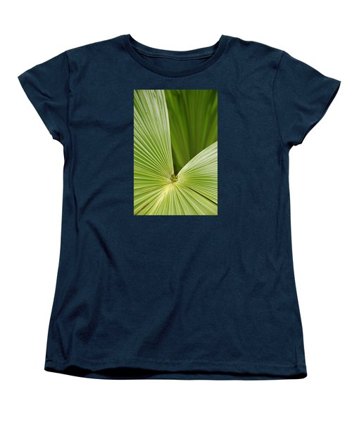 Women's T-Shirt (Standard Cut) featuring the photograph Skc 0691 The Paths Of Palm Meeting At A Point by Sunil Kapadia