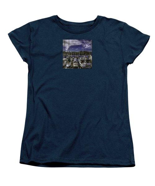 Women's T-Shirt (Standard Cut) featuring the photograph Sky Embrace by Jean OKeeffe Macro Abundance Art