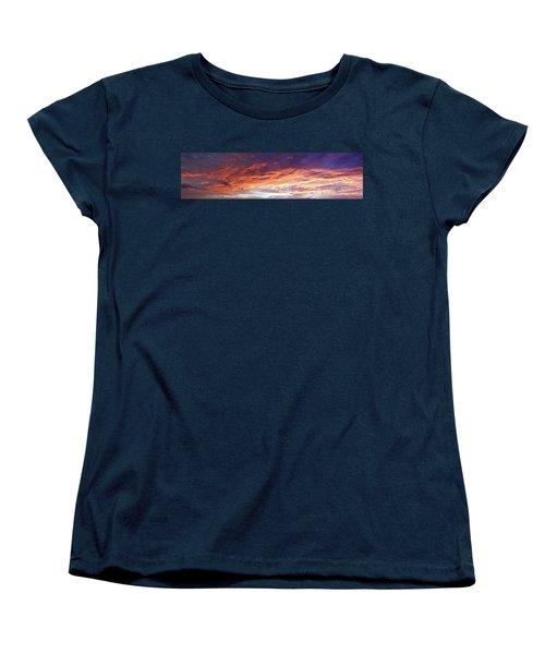 Sky On Fire Women's T-Shirt (Standard Cut) by Les Cunliffe