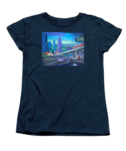 Women's T-Shirt (Standard Cut) featuring the painting Skyfall Double Vision by Art James West