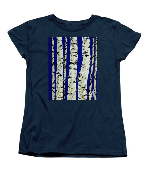 Women's T-Shirt (Standard Cut) featuring the painting Sleeping Giants by Jackie Carpenter