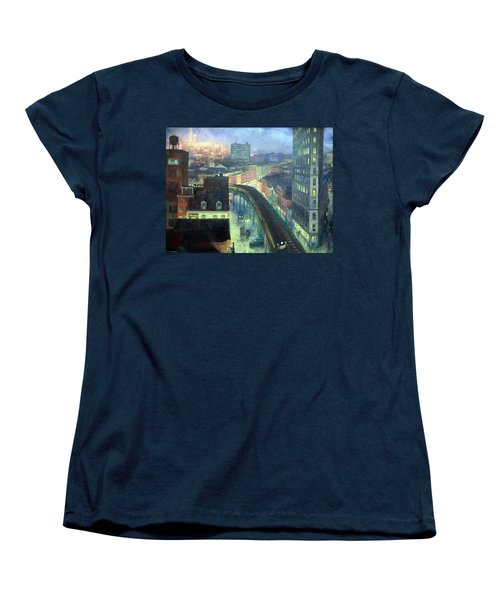 Sloan's The City From Greenwich Village Women's T-Shirt (Standard Cut) by Cora Wandel