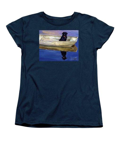 Slow Boat Women's T-Shirt (Standard Cut) by Molly Poole