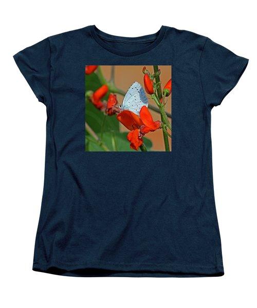 Small Blue Butterfly Women's T-Shirt (Standard Cut) by Tony Murtagh