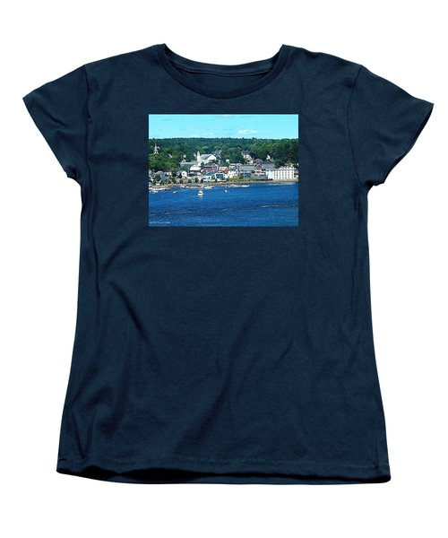 Small Coastal Town America Women's T-Shirt (Standard Cut) by Tara Potts