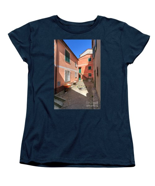 small square in Camogli Women's T-Shirt (Standard Cut) by Antonio Scarpi