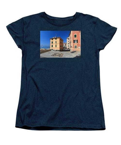 Women's T-Shirt (Standard Cut) featuring the photograph small square in Sori by Antonio Scarpi