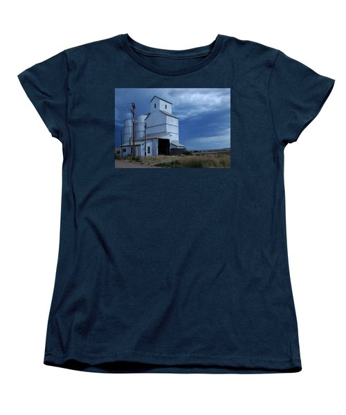 Women's T-Shirt (Standard Cut) featuring the photograph Small Town Hot Night Big Storm by Cathy Anderson