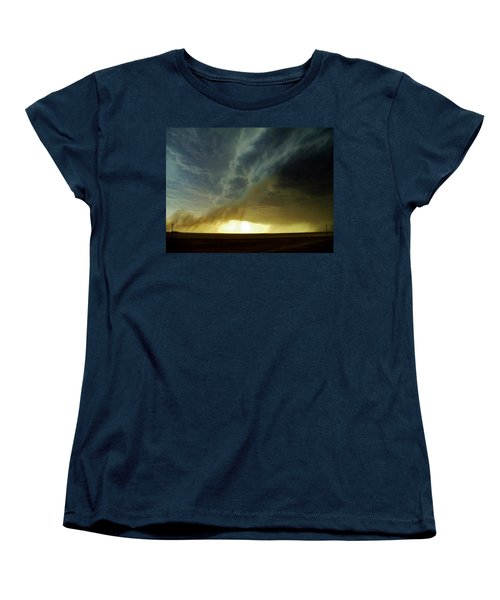 Women's T-Shirt (Standard Cut) featuring the photograph Smoke And The Supercell by Ed Sweeney