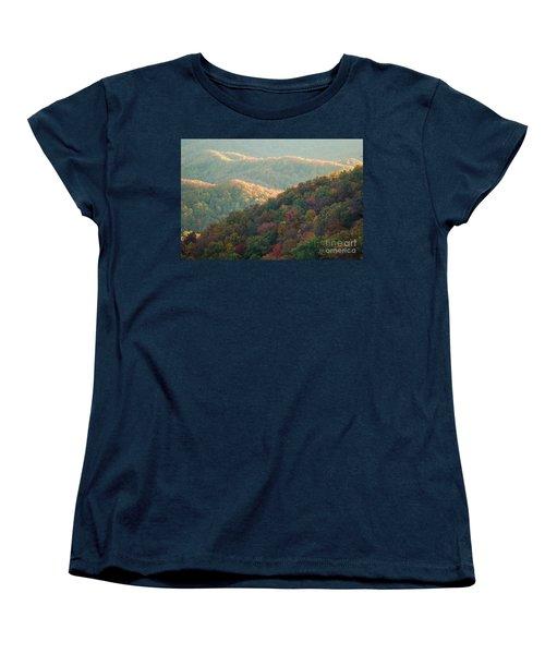Smoky Mountain View Women's T-Shirt (Standard Cut) by Patrick Shupert