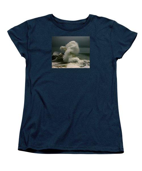 Snake Wave Women's T-Shirt (Standard Cut) by Michael Cinnamond