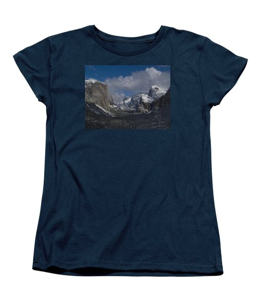 Snow Kissed Valley Women's T-Shirt (Standard Cut) by Bill Gallagher