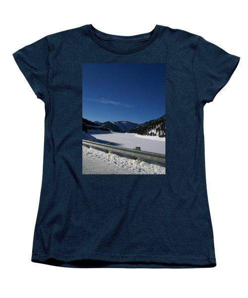 Snow Lake Women's T-Shirt (Standard Cut) by Jewel Hengen