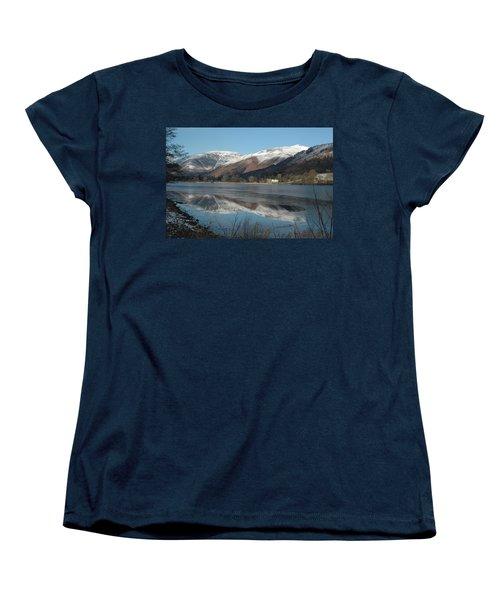 Snow Lake Reflections Women's T-Shirt (Standard Cut) by Kathy Spall