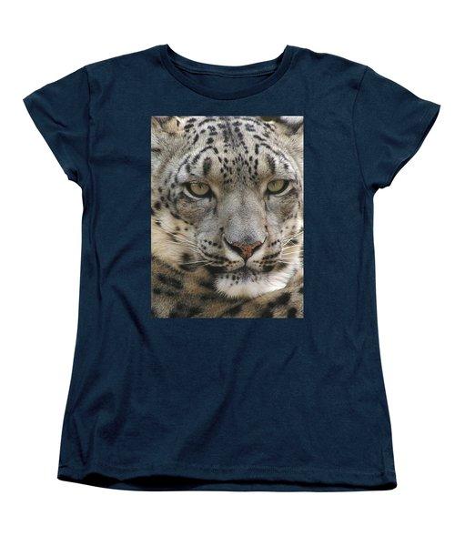 Women's T-Shirt (Standard Cut) featuring the photograph Snow Leopard by Diane Alexander