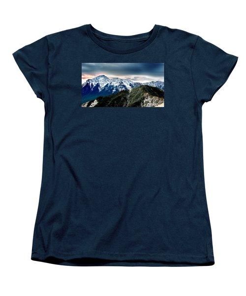 Women's T-Shirt (Standard Cut) featuring the photograph Snow Mountain by Yew Kwang
