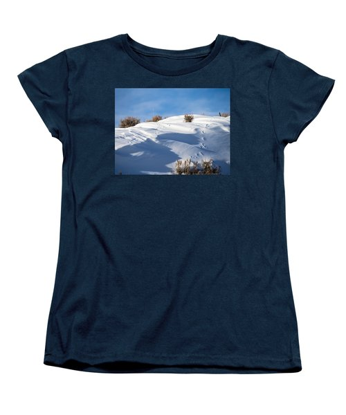 Snowdrifts Women's T-Shirt (Standard Cut) by Nadja Rider