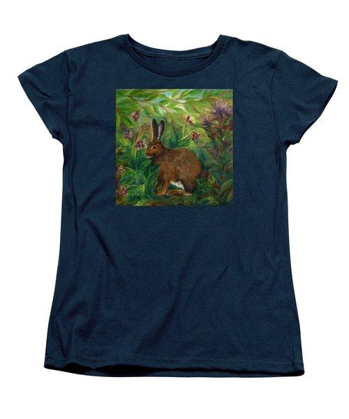 Snowshoe Hare Women's T-Shirt (Standard Cut) by FT McKinstry