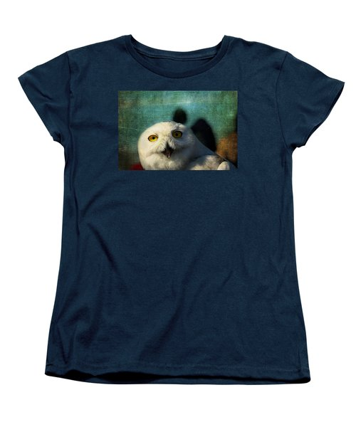 Snowy Owl Women's T-Shirt (Standard Cut) by Denyse Duhaime