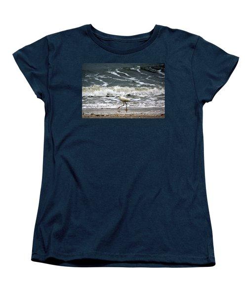Snowy White Egret Women's T-Shirt (Standard Cut) by Kim Pate