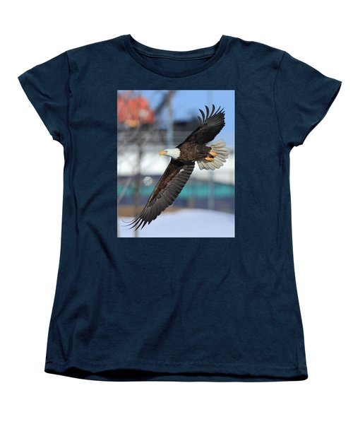 Women's T-Shirt (Standard Cut) featuring the photograph Soaring Eagle by Coby Cooper
